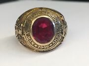 10kt Gold Rare Naval 1946 New York Ny State Maritime Academy College Class Ring