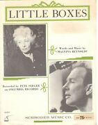 Pete Seeger Little Boxes Sheet Music With Special Ernie Ball Guitar Solo-new