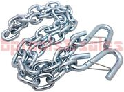 1/4 X 4ft Trailer Safety Chain W/ S-hooks Safety Latches Towing Hitch Pulling