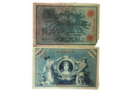 Germany Empire 100 Mark Banknotes 1908 Collectible Rare Old Vintage Paper Money