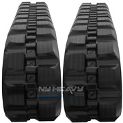 Two Rubber Tracks For Gehl Ctl65 320x86x52 Block Tread Free Shipping