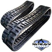 Two Rubber Tracks For Gehl Ctl60 320x86x52 C-lug Tread Free Shipping