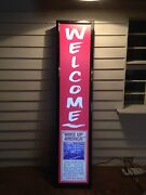 Light Up Cigar Store Welcome Sign Wake Up America United Cigar Stores Tobacciana