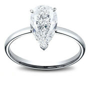 14k Gold 1.02 Ct Pear Shape Diamond Solitaire Engagement Ring I Si2