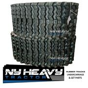 Two Rubber Tracks For Gehl Ctl65 320x86x52 Zig Zag Tread