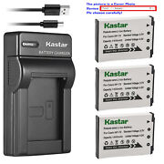 Kastar Battery Slim Charger For Casio Np-70 Bc-70l And Casio Exilim Zoom Ex-z250
