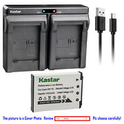 Kastar Battery Dual Charger For Casio Np-70 Bc-70l And Casio Exilim Zoom Ex-z250be
