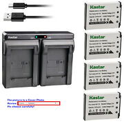 Kastar Battery Dual Charger For Casio Np-70 Bc-70l And Casio Exilim Zoom Ex-z250pk