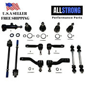 13pcs Suspension Kit Ball Joints Tie Rod Ends Arm Idler Arm Sway Bar Link Pitma