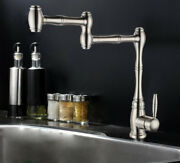 Bathroom Kitchen Sink Faucet Swivel Spout Mixer Tap Single Handle Brushed Nickel