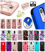 For Alcatel 1x Evolve Ideal Hybrid Impact Shockproof Rubber Rugged Case Cover