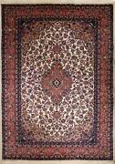 Rugstc 9x12 Senneh Pak Persian Ivory Rug Hand-knottedtraditionalsilk/wool