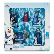 Disney Olafand039s Frozen Adventure - Limited Edition Ornament Set Of 5 New
