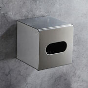 Sus 304 Bathroom Toilet Roll Paper Box Holder Tissue Brushed Nickel Wall Mounted
