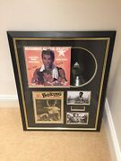 Muhammad Ali Signed Lp Framed With Garry King Certificate Of Authenticity