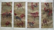 A Group Of Four Chinese Hanging Scroll Painting