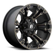 17 Fuel D569 Vapor Wheels Nitto 33 Tires Package Chevy Gmc Toyota Tacoma 6x5.5