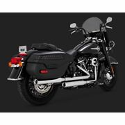 Vance And Hines Twin Slash 3 Slip-on Softail M8 Flhc/s / Flde 18up Chrome 16879