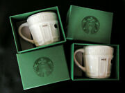 Lot 2 New Nib Starbucks 2016 Pike Place Storefront 3 Oz Demi Mugs In Gift Boxes