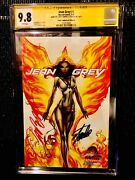 Jean Grey 1 Sdcc Variant D Signed By J Scott Campbell And Stan Lee Cgc 9.8