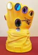The Avengers Stan Lee Signed Thanos Infinity Gauntlet Glove Bank Marvel Comics