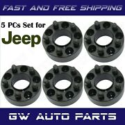 5 Black 2 Jeep Hub Centric Adapters 5x4.5 To 5x5 Wrangler Jk Rims On Tj Or Yj