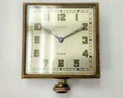 Antique Vintage And Company Elgin 8 Day Travel Automobile Car Clock