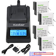 Kastar Battery Lcd Fast Charger Replace Genuine Gopro Ahdbt-701 Hero 7 Hd Black