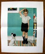 Printed In 1950s Norman Rockwell Print Taller Than Dad Upjohn Series