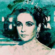 Elizabeth Taylor And039the Queenand039 By Harry Taylor Limited Edition Print