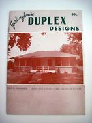 1950and039s House Plans Booklet Garlinghouse Duplex Design Ext.pics And Floor Plans