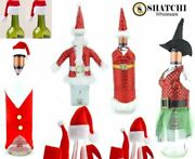 Santa Wine Bottle Cover Gift Bags Christmas Dinner Xmas Party Table Decorations
