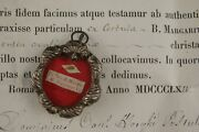Anddagger 1864 Coa Vhm Margaret Alacoque Sterling Reliquary 1st Class Relic Sacred Heart