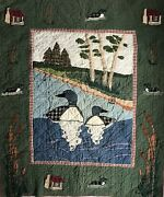 Patch Magic Lap / Wall Hanger / Crib Quilt Loons 52 X 42 Previously Owned