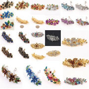 Us Seller-wholesale Lot Of Mix Hair Clips With Crystal Metal Barrettes Hair Clip