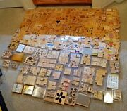 Huge Lot Of 800+ Mixed Rubber Stamps Stamp Stampinand039 Stampin Up Sets + Scrapbook