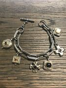 Konstantino Sterling Silver And 18k Yellow Gold Charm Bracelet 9389/spc