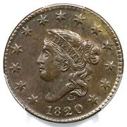 1820 N-15 R-2 Pcgs Ms 63 Bn Small Date Matron Or Coronet Head Large Cent Coin 1c