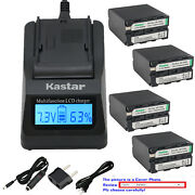Kastar Battery Lcd Fast Charger For Sony Np-f990 Sony Gv-d800 Gv-d900 Gv-hd700e