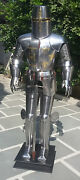 Vintage Medieval Crusader Suit Of Armor Full Body Armour Suit Sword Costume Item