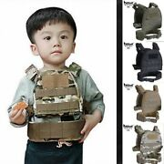 Kids Airsoft Military Safety Tactical Vest Mount System Paintball Game Hunting
