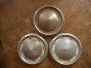 1955 56 Chevy Chevrolet Dish Vintage Hubcap As Is Used Abused Lot Of 3
