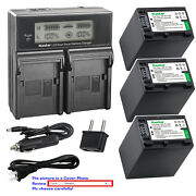 Kastar Battery Lcd Dual Fast Charger For Sony Npfh100 Dcr-sx40 Dcr-sx41 Dcr-sx50
