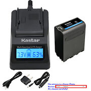 Kastar Battery Lcd Fast Charger For Sony Np-f970 Gv-a700 Gv-d200 Gv-d300 Gv-d700