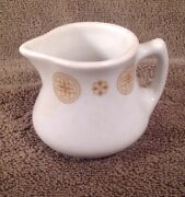 Vintage Jackson China Cream Pitcher Cream With Gold Medallions Very Nice
