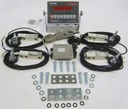 Stainless Steel Load Cell Scale Kit 80000 Lbs Floor Hopper Tank Feeder Silo New