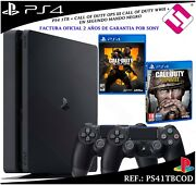 Ps4 Playstation 4 1tb + 2 Contrandocircles + Call Of Duty Wwii Noir Ops4