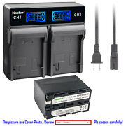 Kastar Lcd Rapid Charger Battery For Sony Np-f970 Sony Gv-d800 Gv-d900 Gv-hd700e
