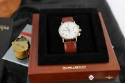 Serviced Vintage Baume And Mercier Lemania 1873 Chronograph 18k Gold Steel Watch