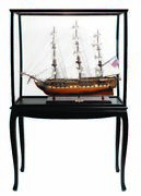 Uss Constitution Old Ironside Tall Ship 38 Model Display Case Assembled